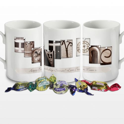Personalised Affection Art Twenty One Mug